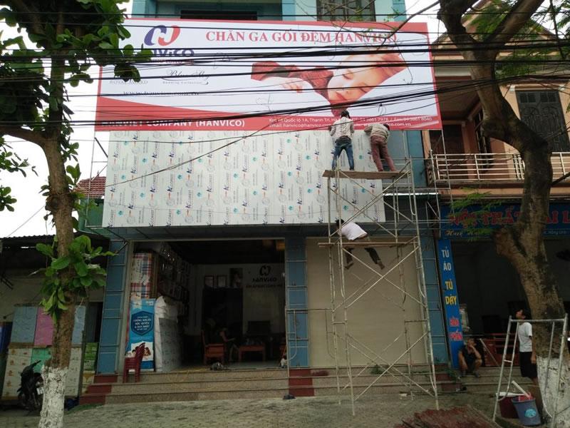 Thi công quảng cáo thương hiệu HANVICO tại Nghệ An - Hà Tĩnh