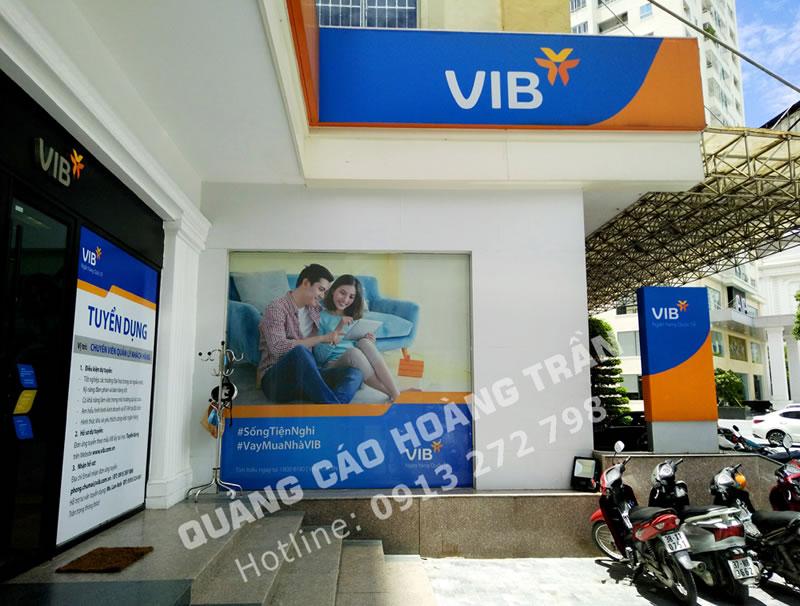 Thi công biển quảng cáo ngân hàng VIB tại Nghệ An