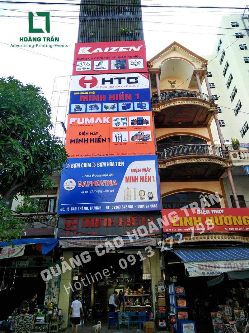 Biển quảng cáo chữ nổi điện máy Minh Hiền tại Nghệ An